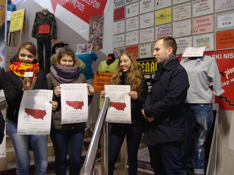 Młodzież Wszechpolska. Akcja Kupuj polskie produkty (zdjęcia)
