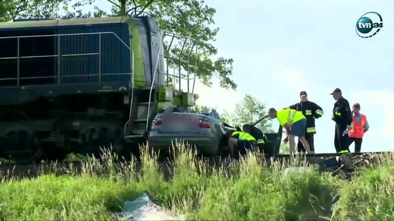 Średnica- Maćkowięta. Tragiczny wypadek na przejeździe kolejowym. Zginęły 3 osoby