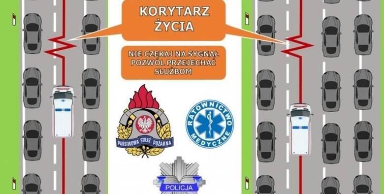 Uwaga kierowcy! Wchodzą w życie nowe przepisy dotyczące korytarza życia