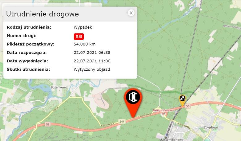 Tragiczny wypadek na S5 pod Bydgoszczą. Zginął kierowca, który wymieniał koło