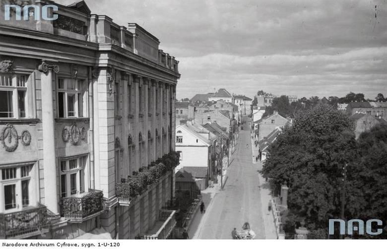 Białystok. Ulica Żwirki i Wigury - widok ogólny. Data wykonania zdjęcia: 1932 - 1939