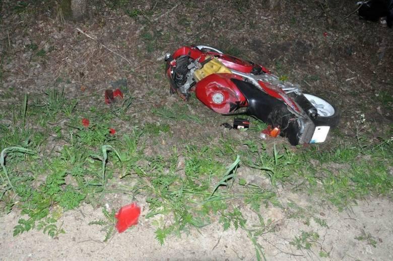 Kajanka - Moszczona Pańska. Śmiertelny wypadek 27-letniego motocyklisty (zdjęcia)