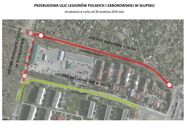 Rozpoczyna się przebudowa ul. Legionów Polskich i Zaborowskiej w Słupsku