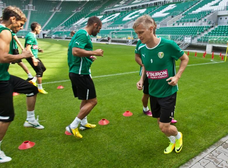 Śląsk Wrocław trenuje przed meczem z Rudarem Pljevlja