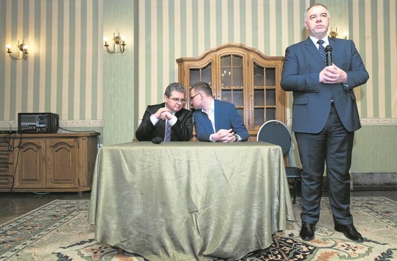 Z mieszkańcami Koszalina spotkał się polityk PiS Jacek Sasin.