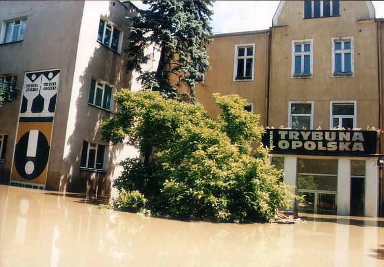Powódź 1997 w Opolu.  Redakcja NTO.