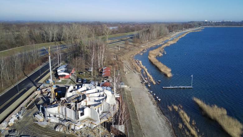 Baza Nurkowa LOK Machów Jezioro Tarnobrzeskie w budowie