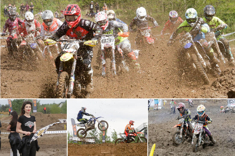 Zawody motocrossowe w Lublinie. Była walka w błocie (DUŻO ZDJĘĆ)