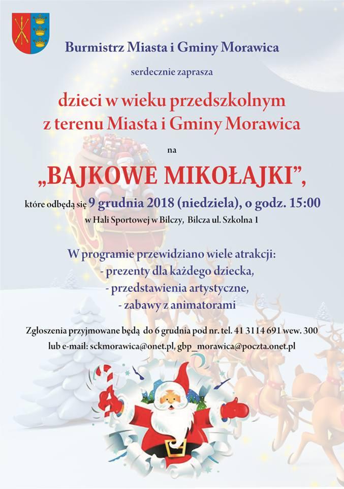 """""""Bajkowe Mikołajki"""" w Gminie Morawica już 9 grudnia"""