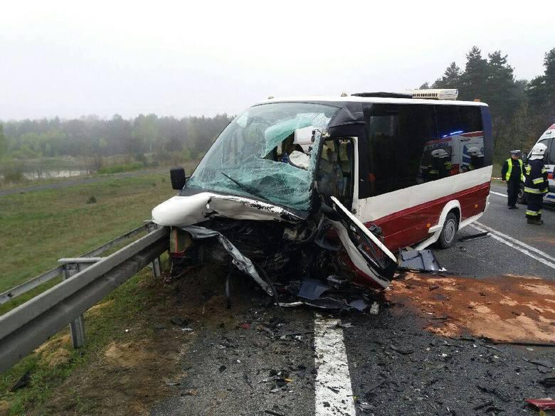 Wypadek na S1 w Mierzęcicach