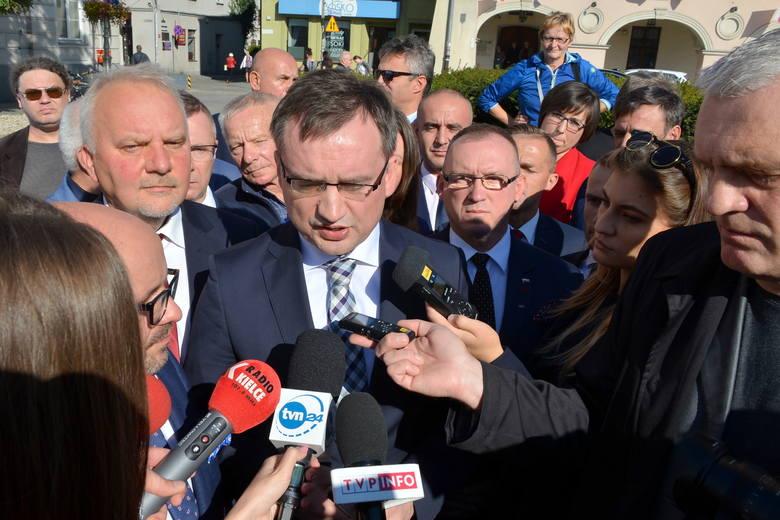 Zbigniew Ziobro w Kielcach. Mówił o wyborach i działalności swojego biura (WIDEO)