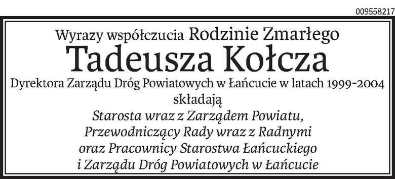 Nekrologi i Kondolencje z dnia 03 lutego 2020 roku