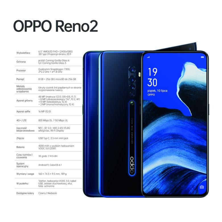 Oppo Reno2 specyfikacja