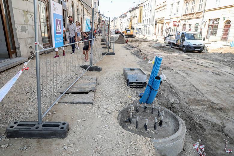 Przebudowa ul. Krakowskiej trwa od marca