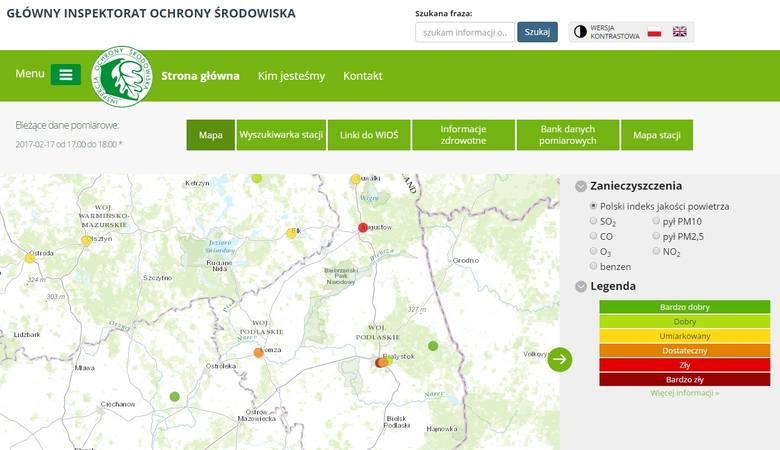 Złe powietrze jest dzisiaj w Białymstoku, Augustowie, Łomży i w Suwałkach.