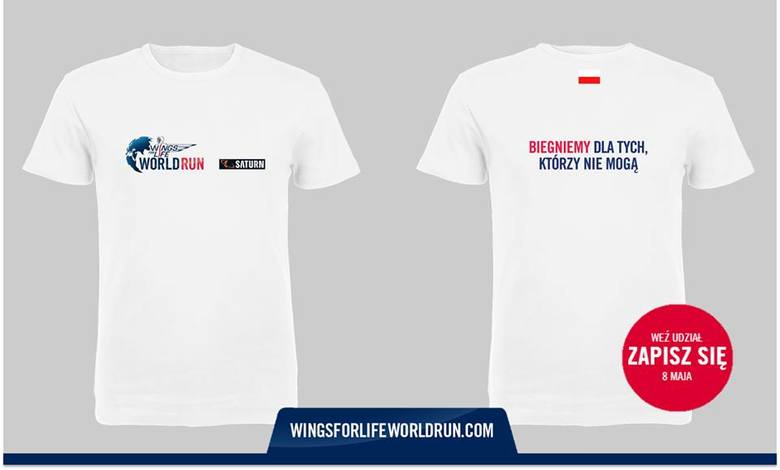 W takich koszulkach wybiegną na trasę zawodnicy w kolejnej edycji nietypowego biegu Wings for Life World Run