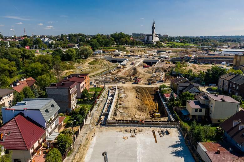 Ogrom prac na budowie Trasy Łagiewnickiej. Te zdjęcia pokazują całą prawdę