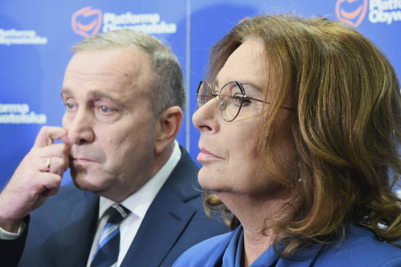 Grzegorz Schetyna i Małgorzata Kidawa-Błońska, wicemarszałek Sejmu