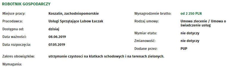 Szukasz pracy w Koszalinie? Jak co tydzień publikujemy najnowsze oferty pracy, które wpłynęły do Powiatowego Urzędu Pracy w Koszalinie.