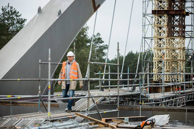 10.10.2019 bydgoszcz budowa droga ekspresowa s5 trasa most wiadukt  . fot: tomasz czachorowski/polska press