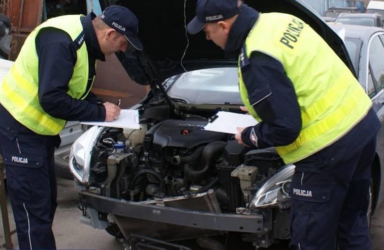 Śrem. Dziupla, a w niej kradzione auta warte milion zł (zdjęcia, wideo)