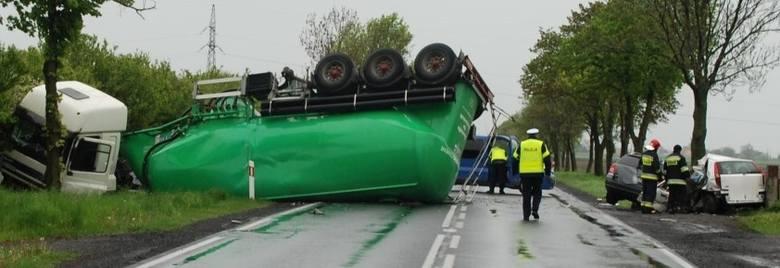 Wypadek w okolicy Kijewa