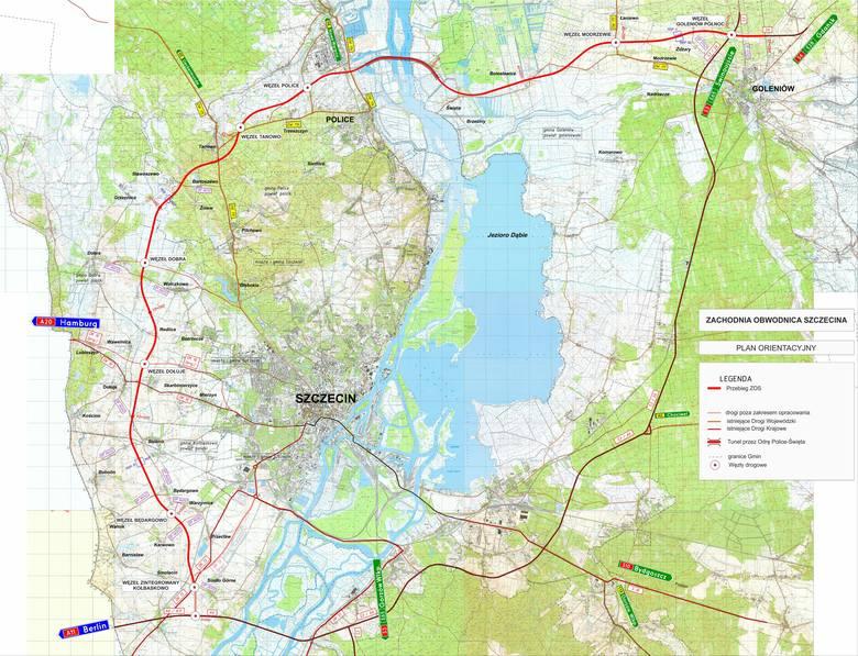 Zachodnia Obwodnica Szczecina. Zobacz dokładny przebieg na mapie - 27.03.2021