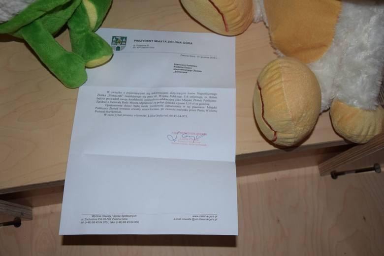 Takie pismo otrzymali rodzice, którzy 2 stycznia, przyprowadzili swoje pociechy do żłobka.
