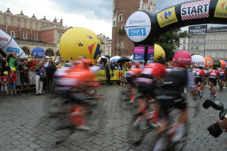 Tour de Pologne 2019 Kraków. Start był na Rynku, finisz obok Błoń [ZDJĘCIA]