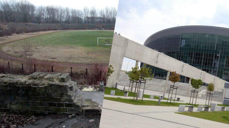 ZOBACZ METAMORFOZY NA KOLEJNYCH ZDJĘCIACH >>>W Gliwicach stadion XX-lecia zamienił się w Halę Gliwice. To spektakularna metamorfoza.
