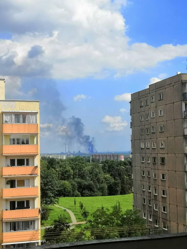 Kraków. Pożar w hucie. Ogień opanowany [ZDJĘCIA]