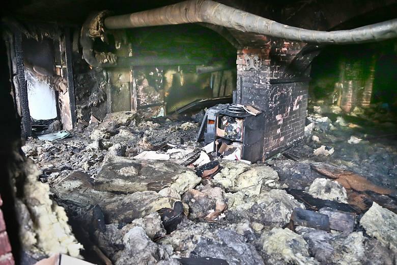 Tak wygląda strzelnica po pożarze