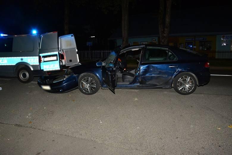 Policyjny pościg w Krośnie i Rymanowie, kolizja, padły strzały.