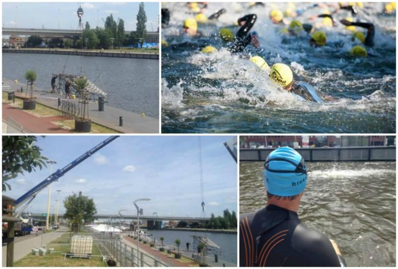 Szczecin stolicą Triathlonu już w niedzielę. Nad Odrą powstaje miasteczko [zdjęcia, trasy]