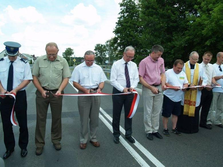 Otwarcie mostu w Łęgu Starościńskim