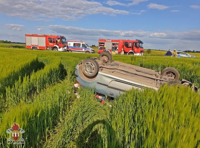Wypadek na drodze Wojsławice - Nasale