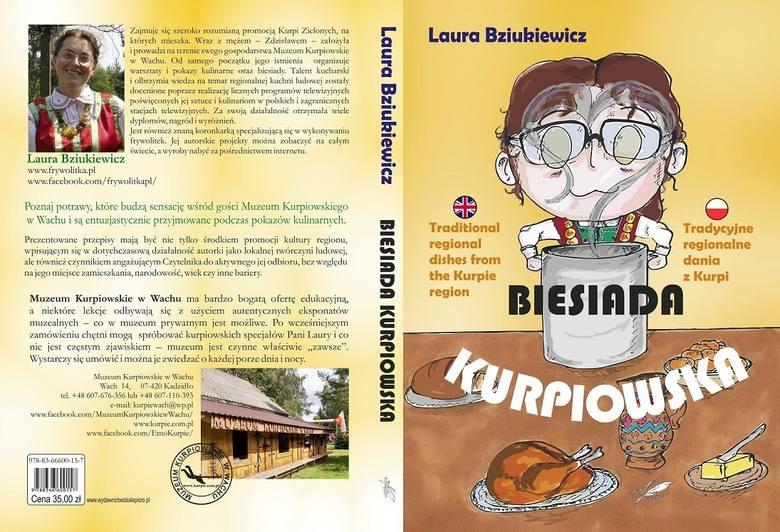 """Laura Bziukiewicz i jej książka pt. """"Biesiada Kurpiowska"""""""