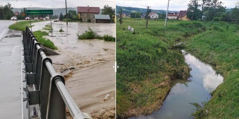 Powódź w gm. Dubiecko. Tak wyglądało to tydzień temu, tak jest dzisiaj [ZDJĘCIA]