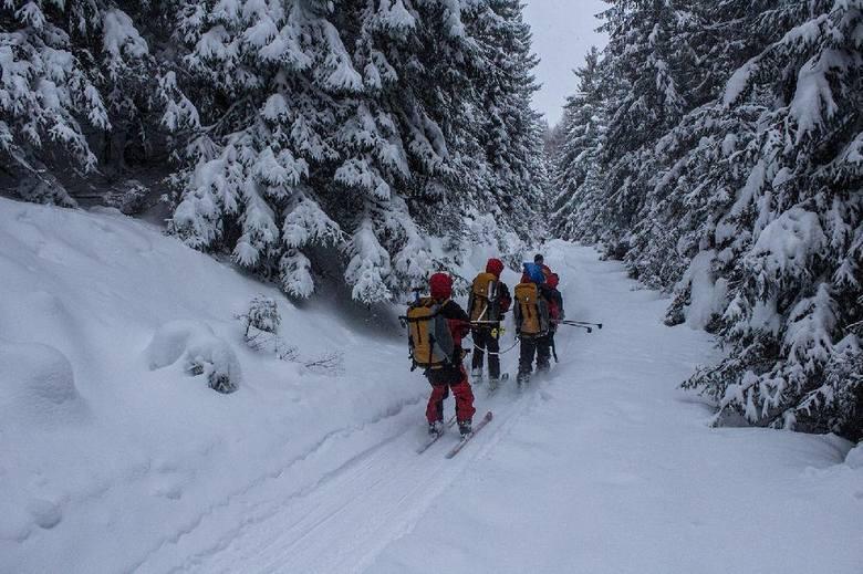 Akcja ratunkowa w Dolinie Tarnowieckiej, gdzie zabłądzili narciarze z Polski.