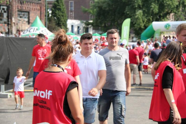 Strefa kibica w Dąbrowie Górniczej, mecz Polska - Senegal, 19 czerwca 2018