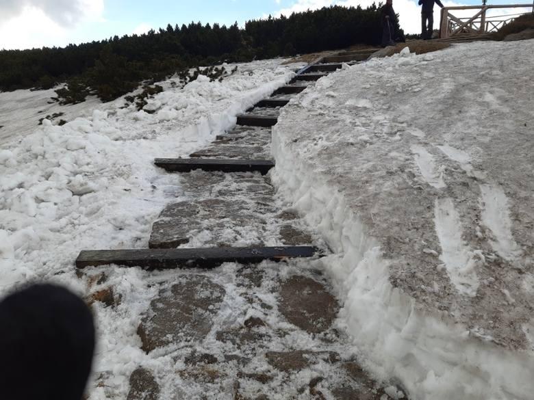 Przekopali śnieg na szlaku na Śnieżkę. Popularna droga już otwarta (ZDJĘCIA)