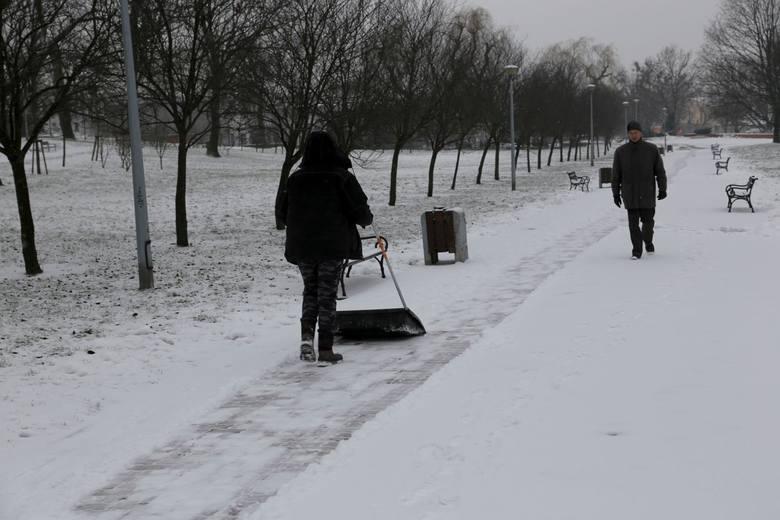 Atak zimy w Białymstoku
