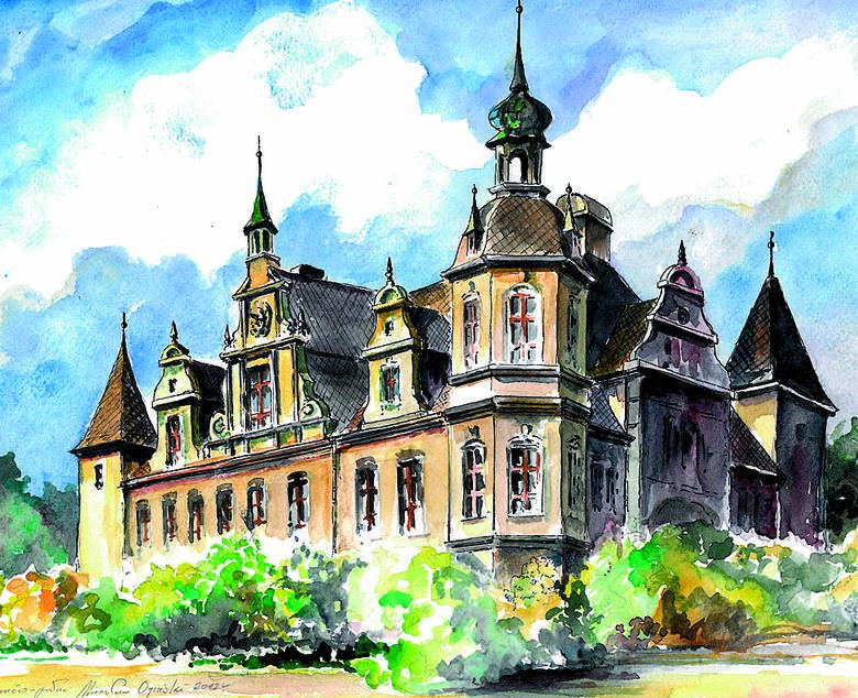 Z pięknego pałacu w Czekanowie koło Gliwic został tylko barokowy portal.
