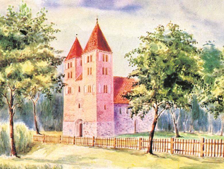 Andrzej Dzikiewicz chętnie uwieczniał też budowle, tutaj widokówka z kościołem Imienia NMP (lata 30. XX w.)