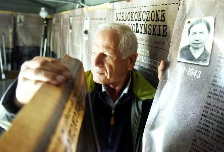 """Czesław Laska, prezes Stowarzyszenia """"Pamięć Polskich Kresów"""" z Łężycy"""