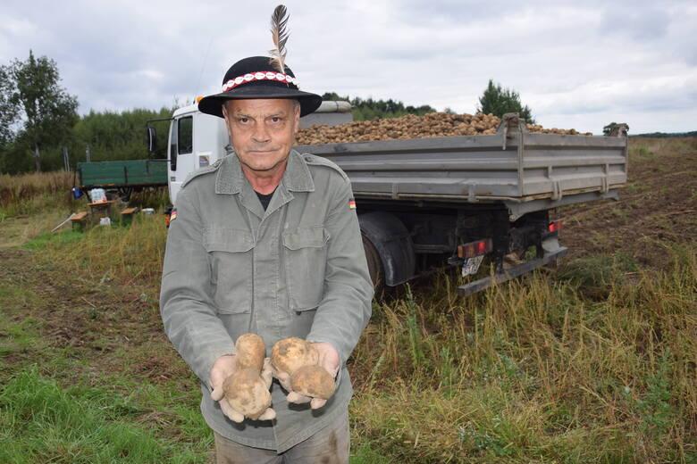 Edward Kubowicz, rolnik z Konradowa w Górach Opawskich w minioną sobotę zaprosił do pomocy na wykopki ziemniaczane rodzinę i znajomych. Plony zapowiadają się dobrze