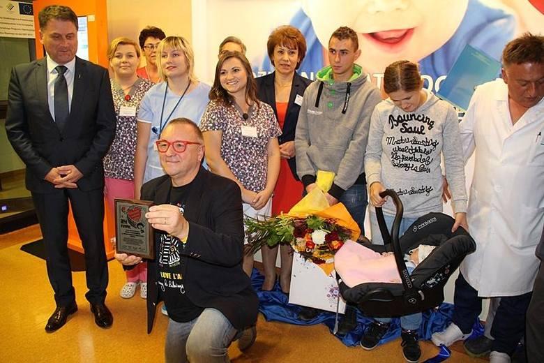 Cieszyński szpital honoruje WOŚP, Jurek Owsiak odwiedził Cieszyn