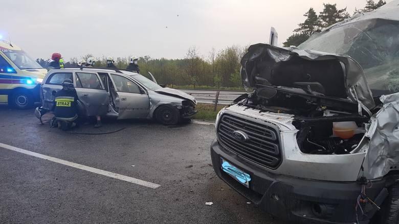 Wypadek na A1 to jedno ze zdarzeń, w którym interweniowali strażacy z Chełmna