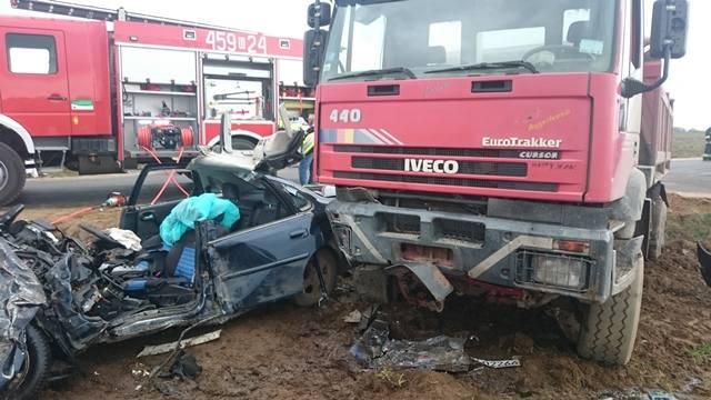 Do wypadku drogowego na drodze Mikicin - Dolistowo doszło w środę w samo południe.