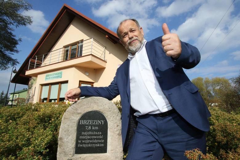 - Brzeziny to najdłuższa miejscowość w naszym województwie. Mamy 43 ulice, jest co robić  - mówi sołtys Ryszard Znój.